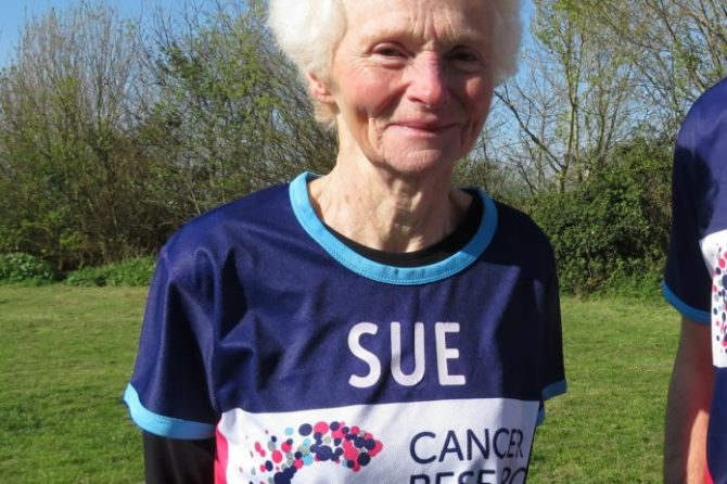 Burnham pensioner, 74, to run her 21st marathon for Cancer Research UK